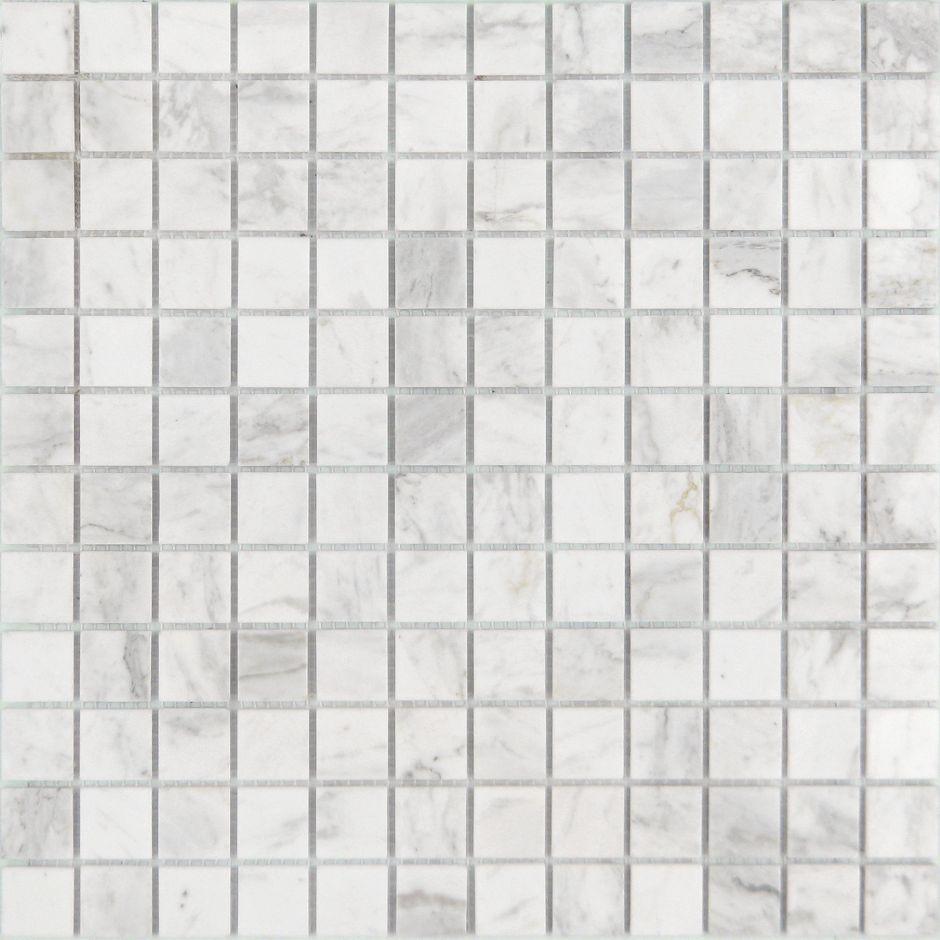 Мозаика LeeDo - Caramelle: Pietrine - Dolomiti Bianco полированная чип 23x23x4 мм