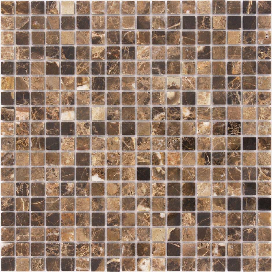 Мозаика LeeDo - Caramelle: Pietrine - Emperador Dark полированная 15x15x4 мм