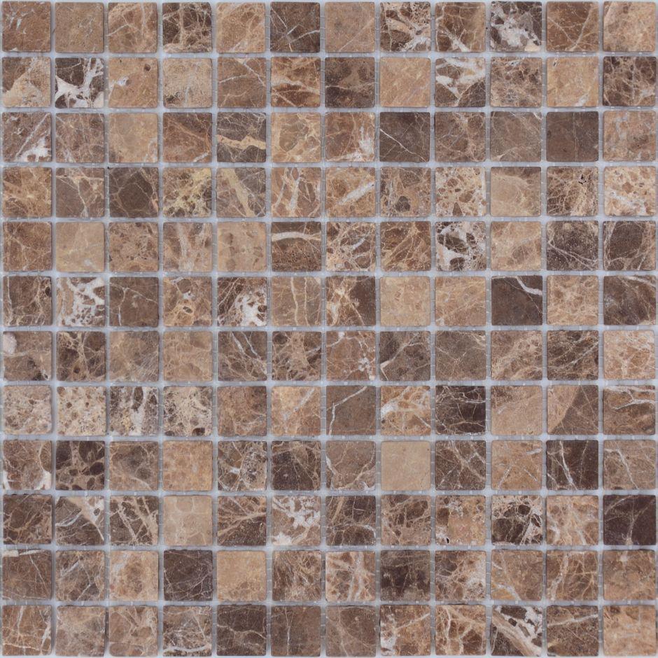Мозаика LeeDo: Pietrine - Emperador Dark матовая 23x23x4 мм