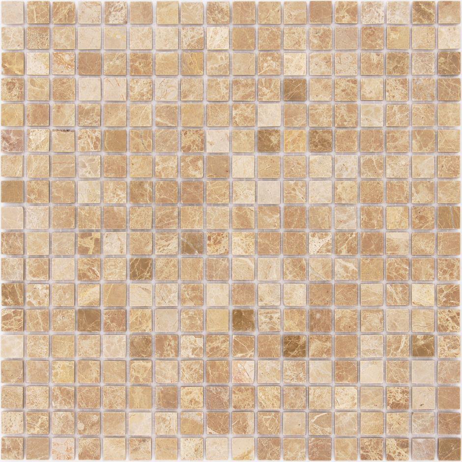 Мозаика LeeDo - Caramelle: Pietrine - Emperador Light полированная 15x15x4 мм