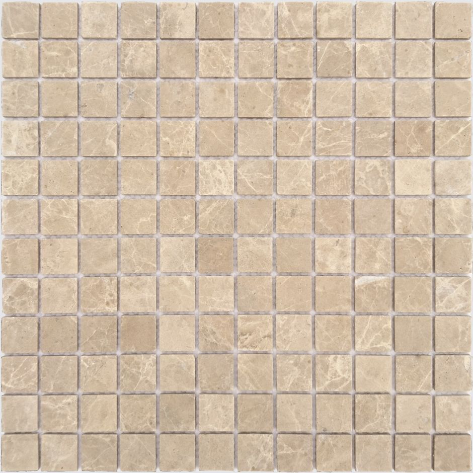 Мозаика LeeDo - Caramelle: Pietrine - Emperador Light матовая 23x23x4 мм
