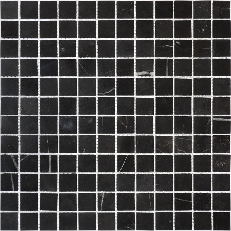 Мозаика LeeDo: Pietrine - Nero Oriente полированная 23x23x4 мм