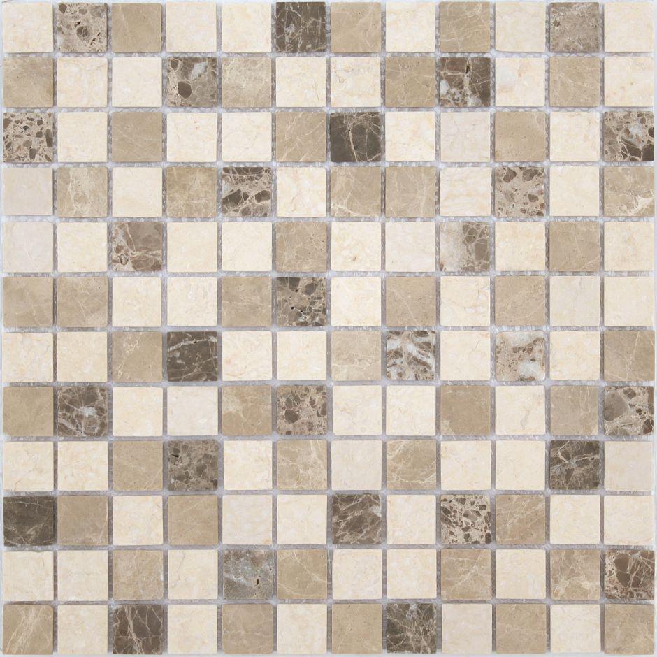 Мозаика LeeDo - Caramelle: Pietrine - Pietra Mix 1 матовая 23x23x4 мм