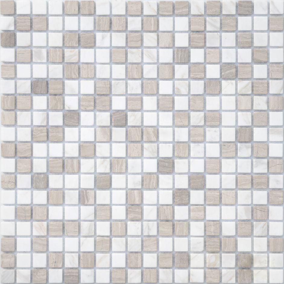 Мозаика LeeDo: Pietrine - Pietra Mix 2 матовая 15x15x4 мм