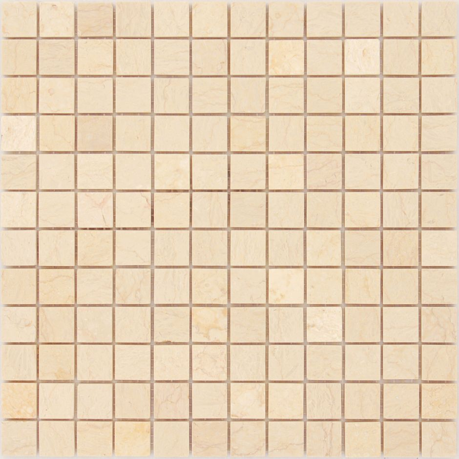 Мозаика LeeDo - Caramelle: Pietrine - Botticino полированная 23х23х7 мм