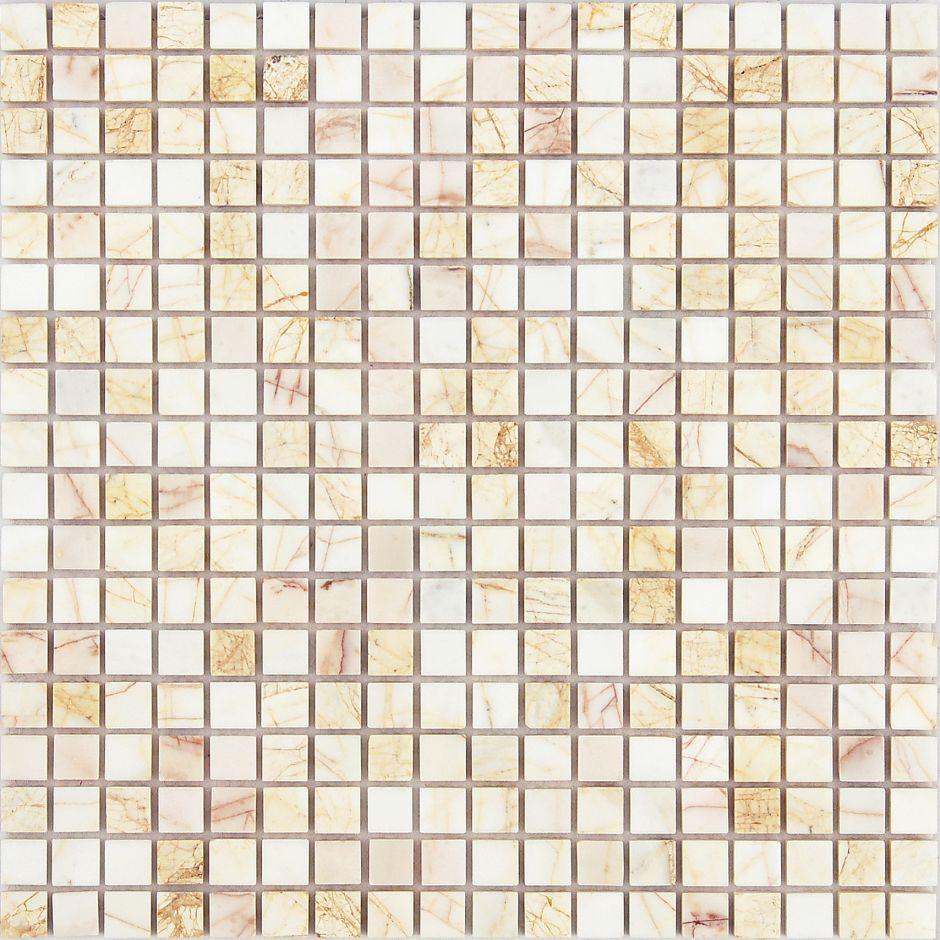 Мозаика LeeDo - Caramelle: Pietrine - Ragno Rosso полированная 15x15x7 мм