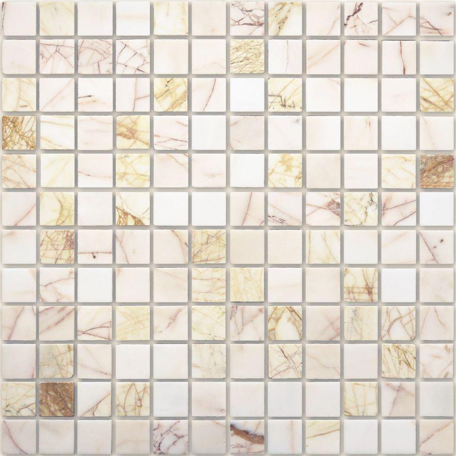 Мозаика LeeDo - Caramelle: Pietrine - Ragno Rosso полированная 23х23х7 мм