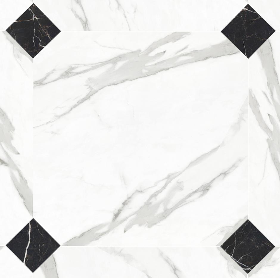 Керамогранит LeeDo: Calacatta POL октагон 60x60 см, полированный
