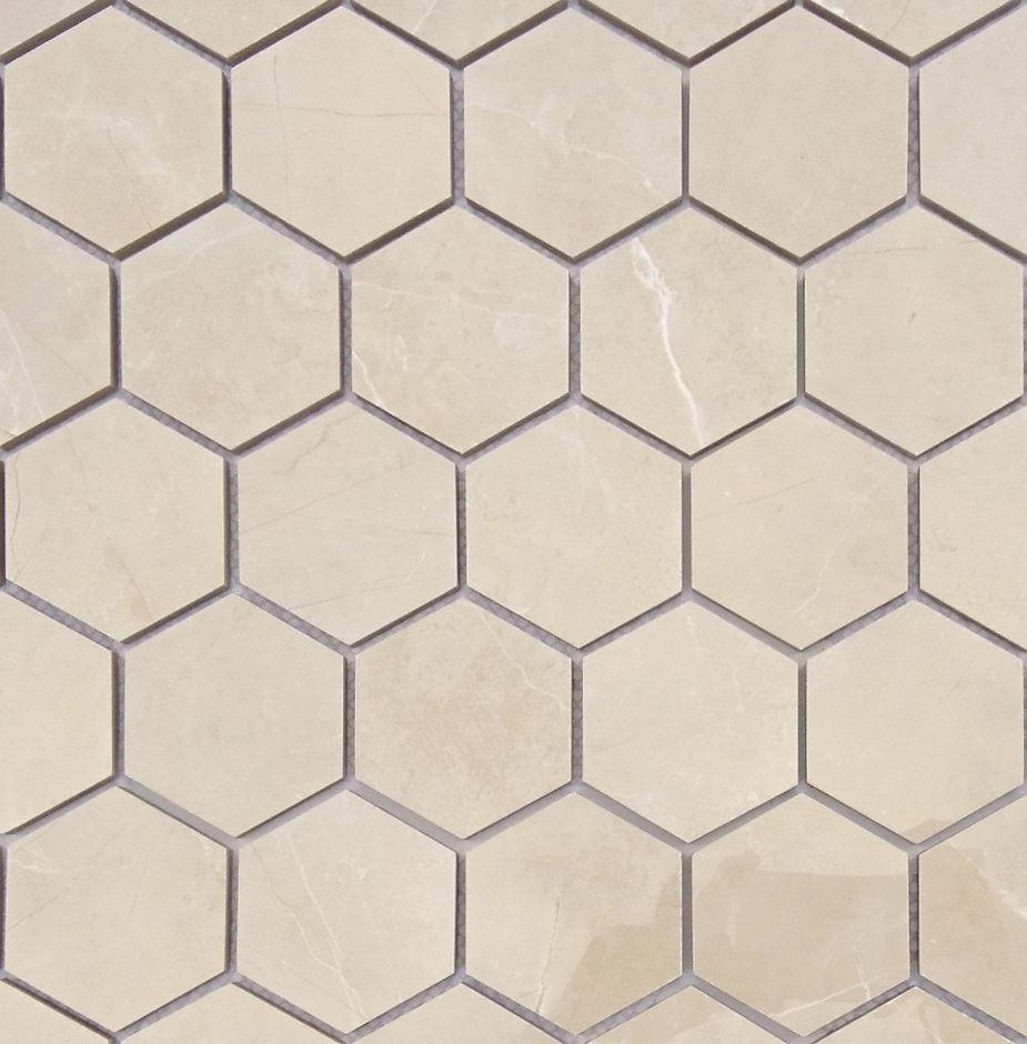 Мозаика LeeDo: Nuvola beige POL 37x64 мм гексагон, полированный керамогранит