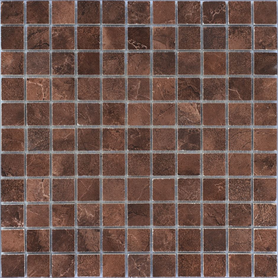 Мозаика LeeDo: Venezia brown POL 23х23х10 мм, полированный керамогранит