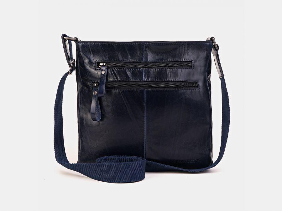 "Кожаная мужская сумка через плечо Alexander-TS ""P0005 Blue"""