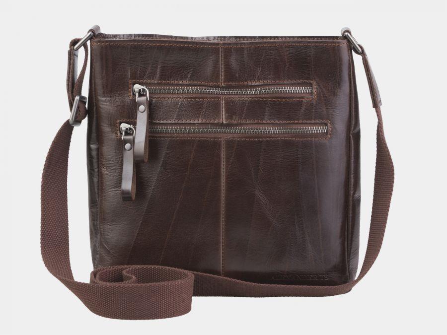 """Кожаная мужская сумка через плечо Alexander-TS """"P0005 Brown"""""""