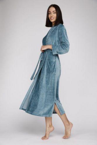 Женский велюровый халат из вискозы Passion виридиан