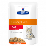 Hill's PD Feline c/d Urinary Stress with Chicken Диетические паучи при цистите (курица) (85 г)
