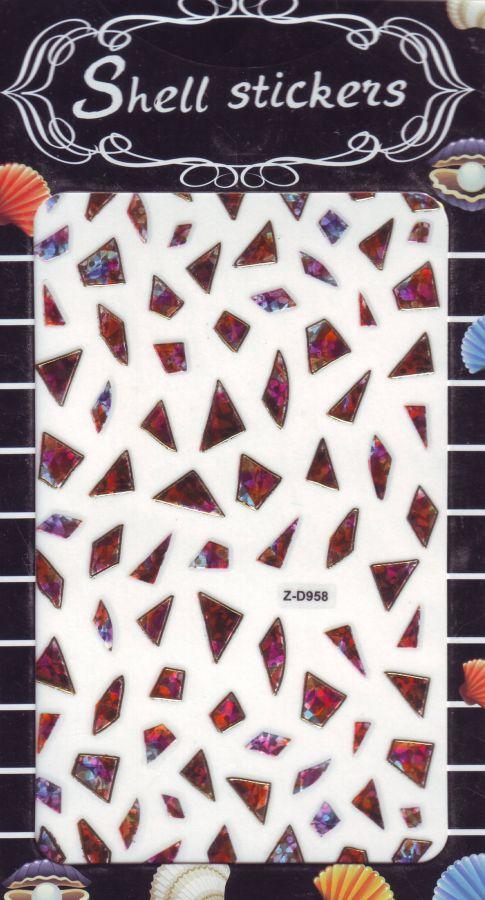 3D СТИКЕРЫ, наклейки объёмные для дизайна ногтей Z-D958