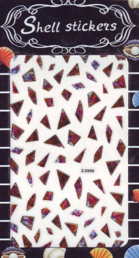 3D СТИКЕРЫ, наклейки объёмные для дизайна ногтей Z-D957