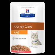 Hill's PD Feline k/d Renal Health with Salmon Диетические паучи при почечной недостаточности (лосось) (85 г)