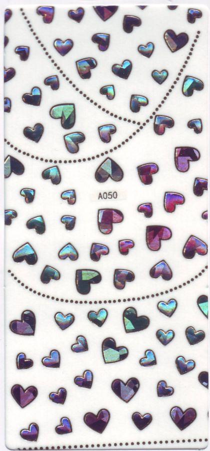 3D СТИКЕРЫ, наклейки объёмные для дизайна ногтей A050