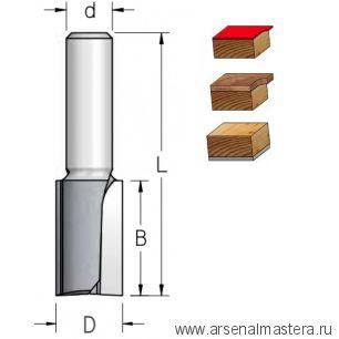 Фреза обгонная нижний подшипник 9,5 х 25 х 65 мм Z 2 хвостовик 6 мм WPW F240953