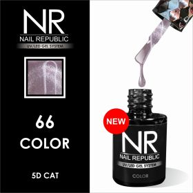 ГЕЛЬ-ЛАК NAIL REPUBLIC CAT-66, 5D (10 мл)