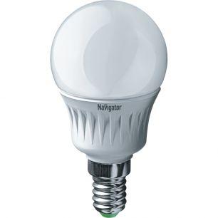 "Лампа светодиодная (led) ""Онлайт"" G45 шар 06w E14, хол. свет"