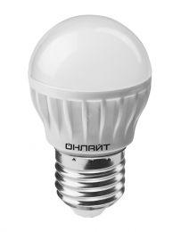 "Лампа светодиодная (led) ""Онлайт"" G45 шар 10w E14, хол. свет"