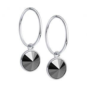 Серьги из серебра с кристаллами Swarovski 94024337 SOKOLOV