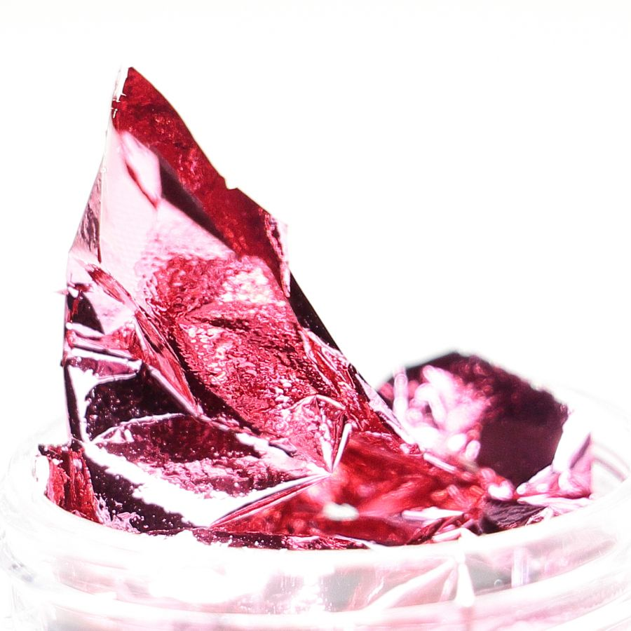 Фольга-слюда для дизайна ногтей красная