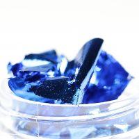 Фольга-слюда для дизайна ногтей синяя