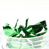 Фольга-слюда для дизайна ногтей зеленая