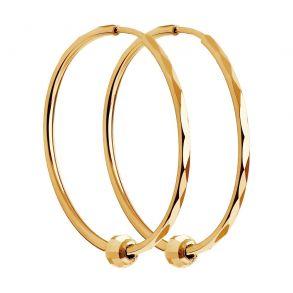 Серьги конго из золота с алмазной гранью 140120 SOKOLOV