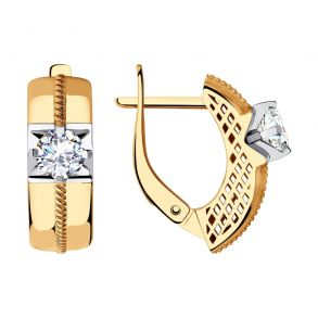Серьги из золота с фианитами 028472 SOKOLOV