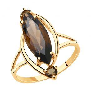 Кольцо из золота с раухтопазами 715929 SOKOLOV