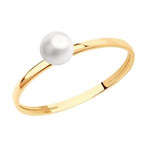 Кольцо из золота с жемчугом 791201 SOKOLOV