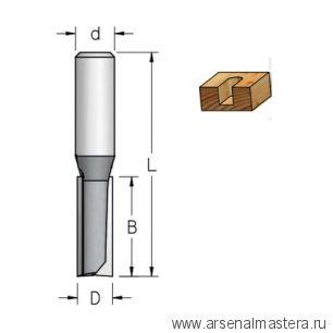 Фреза пазовая D 12,7 B 75 Z 2 хвостовик 12 мм WPW P201272