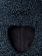 РБ 21846 Шапка-шлем вязаная для мальчика sport, серо-синий