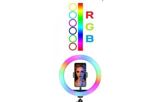Кольцевая селфи-лампа RGB