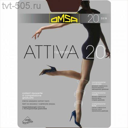 Колготки OMSA Attiva 20d c шортиками арт.268