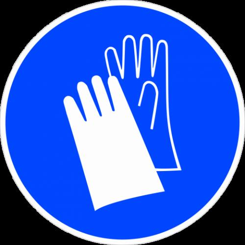 """Наклейка М06 """"Работать в защитных перчатках"""", ГОСТ, Айдентика Технолоджи"""
