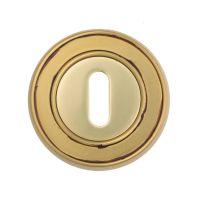 Накладка на межкомнатный замок Venezia KEY-1 D6, французское золото + коричневый