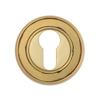 Накладка на замок с цилиндром  Venezia CYL-1 D6, французcкое золото + коричневый