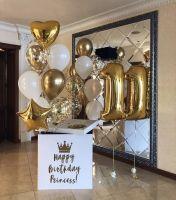 Большая коробка-сюрприз с шарами Для Королевы,60х60х60 см