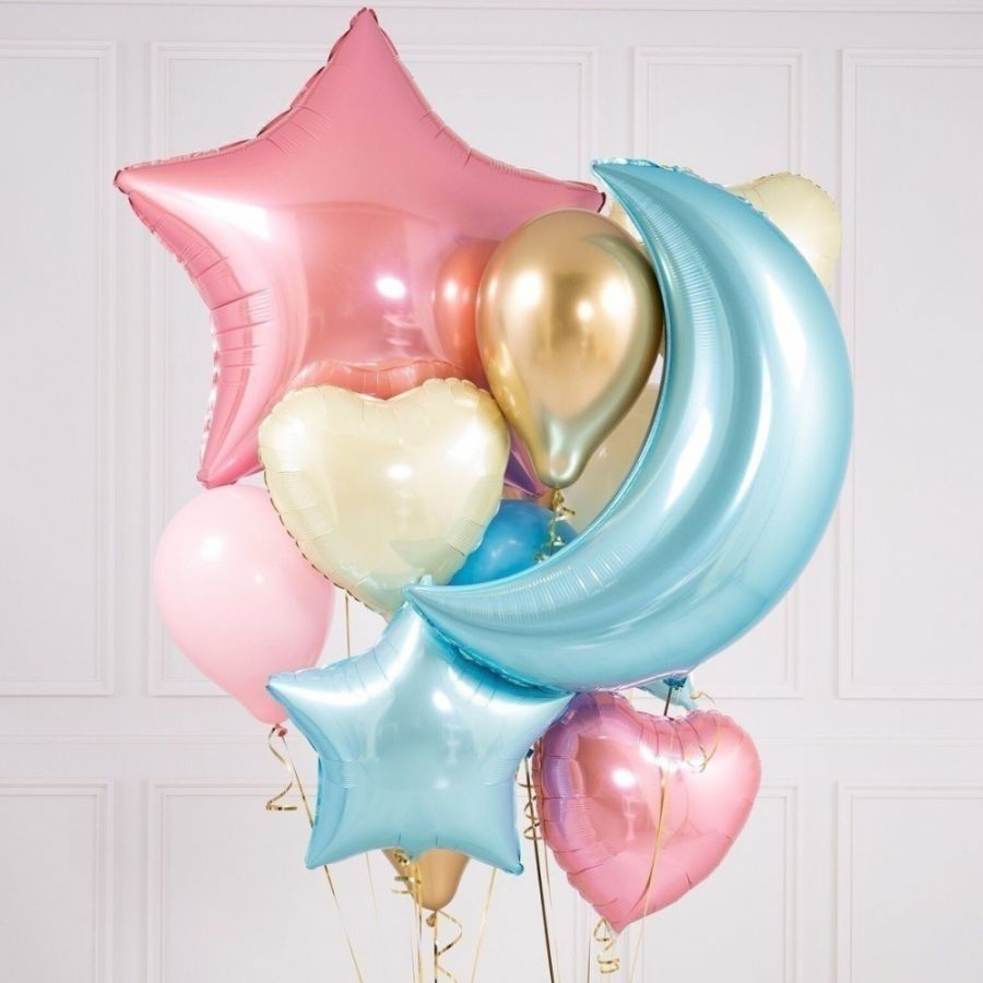 """Букет из шаров """"Цветное небо"""""""