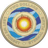 Австралия 2 доллара 2018 Что бы мы не забывали Вечный огонь многоцветная UNC
