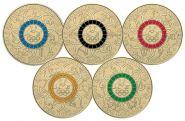 Австралия 5х2 доллара 2016 Олимпийские игры в РИО цветные комплект