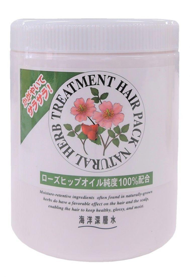 JUNLOVE Маска на основе натуральных растительных компонентов с маслом шиповника для нормальных волос. NATURAL HERB TREATMENT, 800 мл.