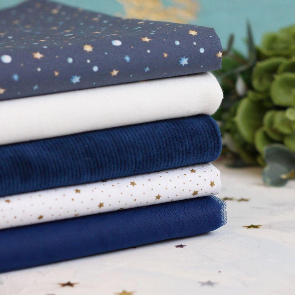 Набор тканей для пошива Снежная ночь