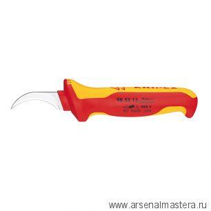 Нож для удаления оболочек кабелей с секторными жилами (для снятия изоляции 1000 V) KNIPEX 98 53 03