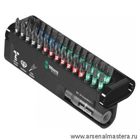 Набор насадок и держатель компактной формы BC Impaktor/30 Bit-Check WERA