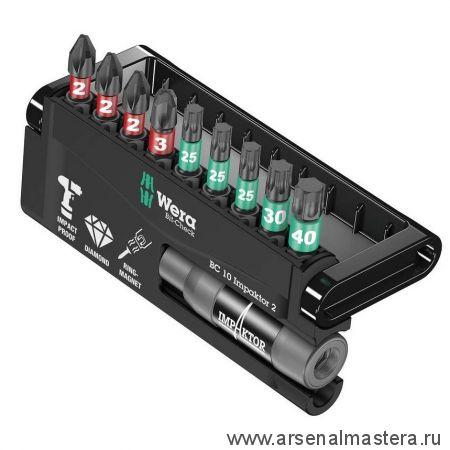 Набор насадок и держатель  WERA 8751/67-9/IMP DC Impaktor Bit-Check WE-057682